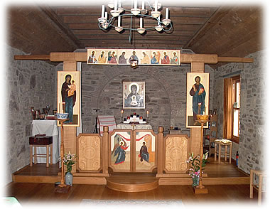 Iconostasis and sanctuary